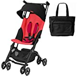 Goodbaby GB Pockit+ Lightweight Stroller - Cherry Red with Bonus Diaper Bag (Color: Cherry Red)