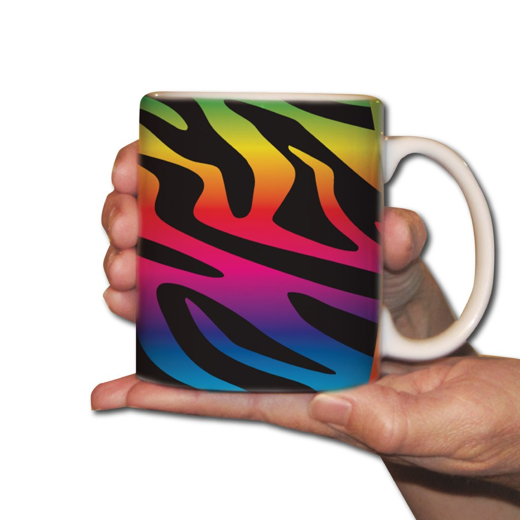 Design Coffee Mug - Rainbow Zebra