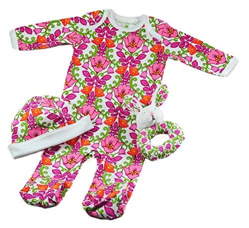 Vera Bradley Baby Girl's 3 Pc Layette Set, Lilli Bell 3-6 Mo