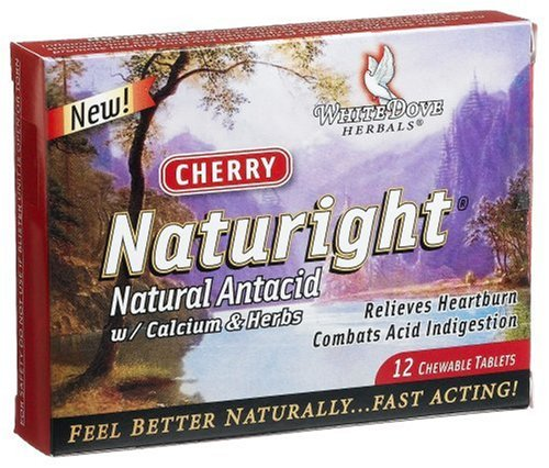 Naturight Natural Antacid with Calcium & Herbs, 12-Count Chewables Tablets (Pack of 3)
