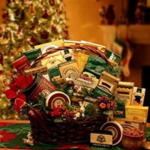 Deluxe Holiday Gathering   Gourmet Foods Christmas Gift Basket