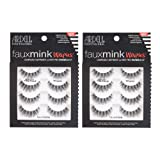 Ardell False Lashes Faux Mink Wispies Multipack, 2 pk x 4 pairs (Color: Faux Mink Wispies, Tamaño: 8 pairs)