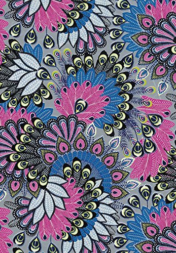 Decopatch Paper Ref 538 - Peacock Feathers (Pink/Blue/Yellow) Single Sheet (381 x 305 mm)