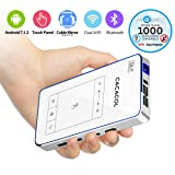 Mini Projector, CACACOL Pocket Projector Android DLP Mini Projector Portable Projector Slim Phone Projector Pico Projector (T1) (Color: T1)