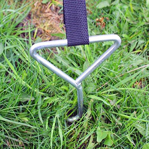Ultrasport Bodenverankerung, Bodenanker-Set für Trampoline, Schaukeln, Gartenhaus, Spielturm und vieles mehr -