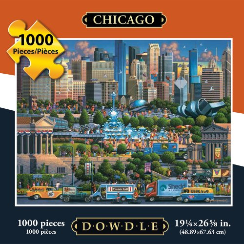Jigsaw Puzzle - Chicago 1000 Pc By Dowdle Folk Art (Chicago Puzzle 1000 compare prices)