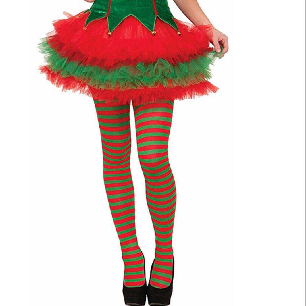 Striped Christmas Elf Stockings