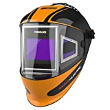 YESWELDER Panoramic 180 View Auto Darkening Welding Helmet with Side View, True Color Highest Optical 1/1/1/1, 4 Arc Sensor Wide Shade 4/5-9/9-13 with Grinding for TIG MIG MMA Plasma