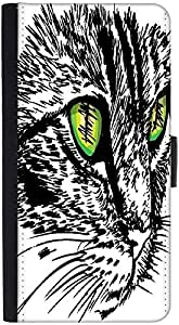 Snoogg Sketch Of Curious Little Cat Looking At Something On The Ground Vector...
