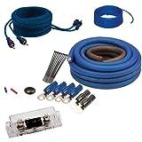 Soundquest SQK4ANL CCA 4 Gauge Wiring Kit (Color: Blue, Tamaño: Apple)