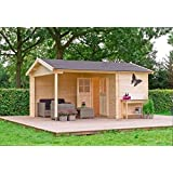 gartenhaus m nchen blockhaus 500x450cm 150cm veranda. Black Bedroom Furniture Sets. Home Design Ideas