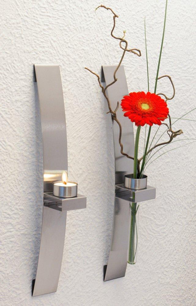 CHG 3342-00 - Candelabro/florero de pared (2 unidades, 39,5 x 5 x 8 cm)   Comentarios y más información