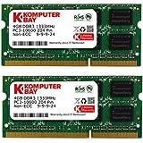 Komputerbay 8GB (2x 4GB) DDR3 SODIMM (204 pin) 1333Mhz PC3 10600 8 GB Laptop Memory- (Not for Mac)