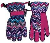 NIce Caps Girls Thinsulate and Waterproof Zig Zag Print Ski Glove (5-7yrs)