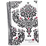 bloom daily planners 2014-15 Academic Year Planner - Goal Organizer - Fashion Agenda - Monthly and Weekly Planner - (August 2014 Through July 2015) Black & White Damask