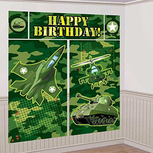 Military Camouflage Giant Scene Setter Wall Decorating Kit (5pc)