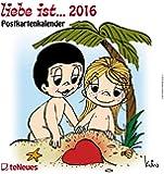 liebe ist 2016 - Postkartenkalender / Wandkalender- teNeues- 16 x 17 cm
