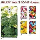 GALAXY Note 3 SC-01F (カラフル01) D [C000404_04] 果物 野菜 パプリカ ポップ スマホ ケース docomo