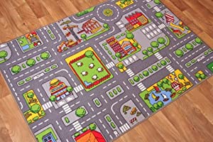 Children's Play Village Mat Town City Roads Rug from The Rug House