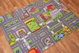 Children's Play Village Mat Town City Roads Rug 95cm x 133cm (3ft 1