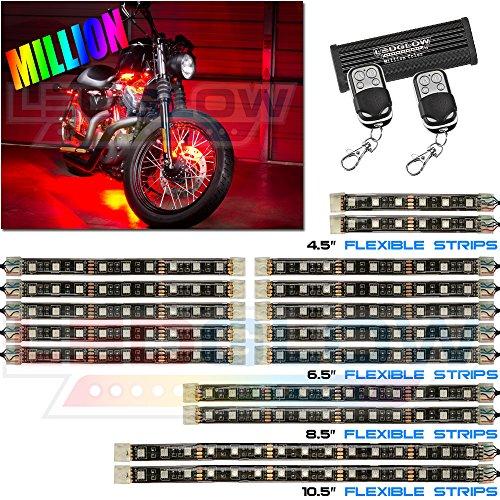 16Pc Advanced Million Color Smd Led Flexible Motorcycle Kit