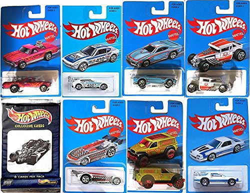 Hot Wheels Retro Blue Exclusive Car Series Classic Card 2016 - Heritage Style + Pack of Hobby Trading Cards Volkswagen SP2 VW, Bone Shaker, GT-03, Camaro, Battle Spec, El Camino, Power Panel truck (Irocz Camaro Decal compare prices)