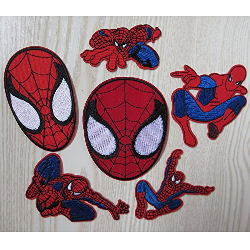 [FairyMotion 10Pcs Mixed Super Hero Spider Man Embroidered Iron On Patches Marvel Comics Jacket Patch Appliques Diy Accessory Perfect] (Make Your Own Superhero Costume Kit)