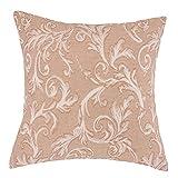 "DreamHome - Royal Court Euro Pillow Cover/Sham, 26"" X 26"", Light Brown"