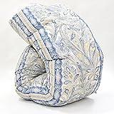 西川 羽毛布団 ホワイト マザーグース ダウン 93% 日本製 抗菌防臭 AI955 (シングル:150×210cm, ブルー)