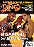 "Mike Tyson & ""Hurricane"" Peter McNeeley Autographed The Ring Magazine PSA/DNA #Q90518"