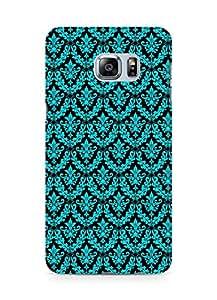 Amez designer printed 3d premium high quality back case cover for Samsung Galaxy S6 Edge Plus (pattern blue black )
