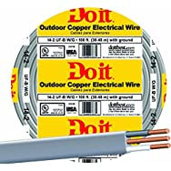 Southwire 13054219 Do it Underground Feeder Cable-100' 14-2 UFW/G WIRE