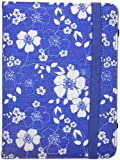 Trendz Folio Case with Closing Strap for Amazon Kindle 4 - Purple Floral