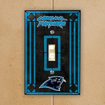 Carolina Panthers Art Glass Lightswitch Cover