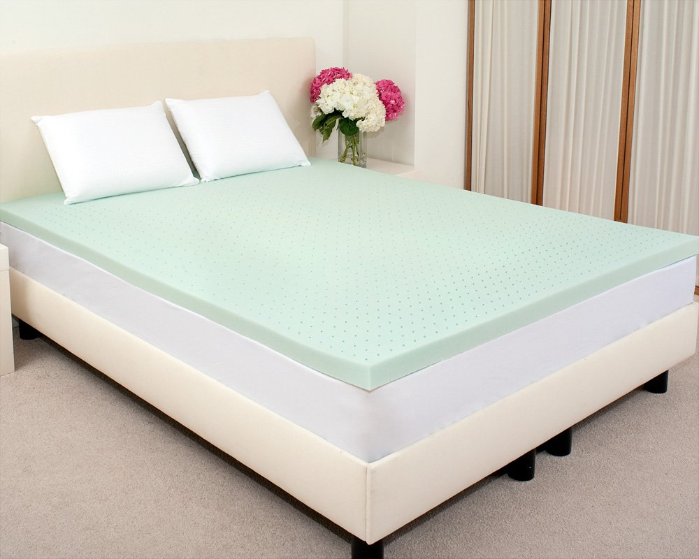 Best Sale Sleep Studio 3 Inch Visco2 Green Tea Memory Foam Mattress Topper Queen In Best