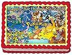 Pokemon #2 Personalized Edible Cake Topper Image -- 1/4 Sheet