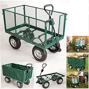 Probache - Chariot remorque de jardin tres grande capacite XXL 500 kg