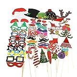 TinkSky 62 weihnachtliche Fotorequisiten & Fotoaccessoires für stimmungsvolle & witzige Bilder zur Weihnachtszeit, die sich auch hervorragend als dekoratives Element eignen