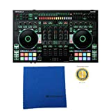 Roland DJ-808 4-Channel DJ Controller for Serato DJ with Microfiber and Free EverythingMusic 1 Year Extended Warranty
