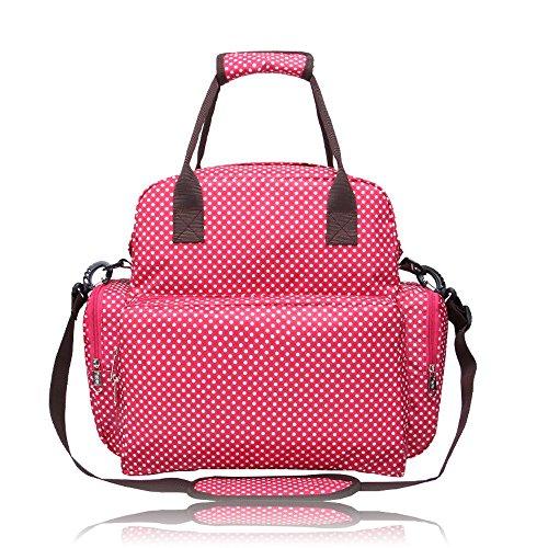 boshiho® Tutto in uno borsa premaman Fantasia A Pois Da Viaggio Borsa Per Pannolini Baby fasciatoio Borsa Mamma