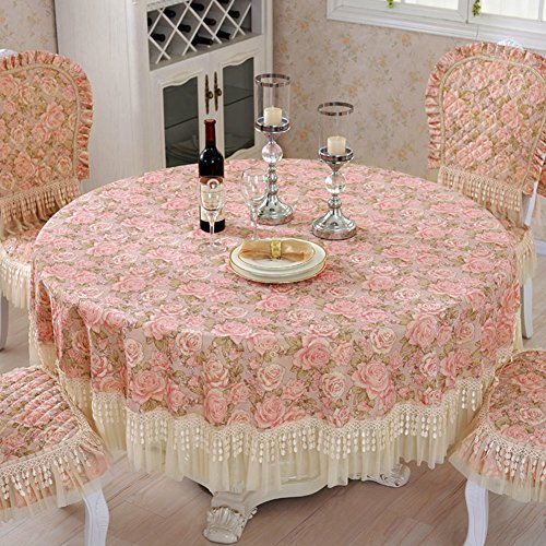 Round tablecloth/Outdoor restaurant table linen/ living room coffee table-cloth/Pastoral fashion lace table cloth-A diameter150cm(59inch)