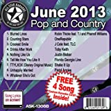 All Star Karaoke June 2013 Pop and Country Hits B (ASK-1306B)