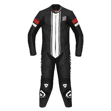 Rev'it - Combinaison moto cuir CR - Taille : 52 - Couleur : Noir/rouge [Divers]