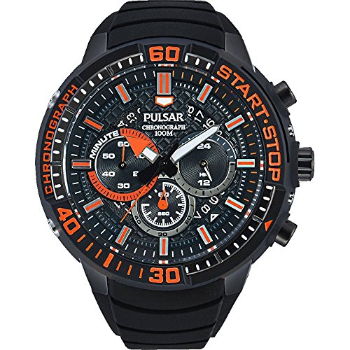 uhren test pulsar watches men s x chronograph watch with. Black Bedroom Furniture Sets. Home Design Ideas