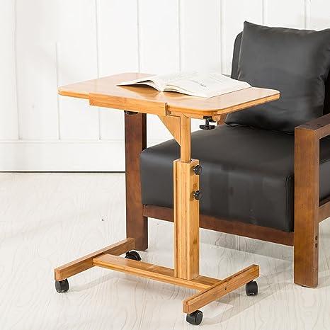 Mesa de ordenador portátil con ventilación ajustable Escritorio de ordenador portátil Bandeja de cama portátil Soporte de libro Multifuctional Dual Layer Tabletop ( Tamaño : 70*50CM )