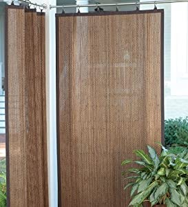 outdoor bamboo curtain panels in dark brown window treatment panels