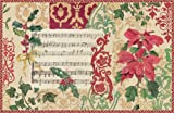 "Caspari Holiday Cards, ""Holiday Decoupage"" Design, Box of 20 Christmas Cards with Envelopes"