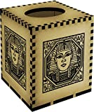 Square 'Egyptian Square Motif' Wooden Tissue Box Cover (TB00009739)