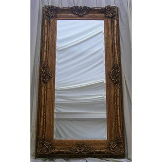 "Ornate Gold Rococo Mirror (6ft 2"" x 3ft 2"")"