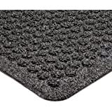 "Notrax 150 Aqua Trap Entrance Mat, for Main Entranceways and Heavy Traffic Areas, 2' Width x 3' Length x 3/8"" Thickness, Charcoal"